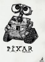2. Pixar Sketches - Wall-E by intothewild142