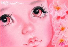 Cherry Blossom Pink ACEO by Katerina-Art