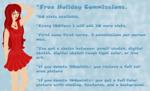 Free Holiday Commissions by 102vvv