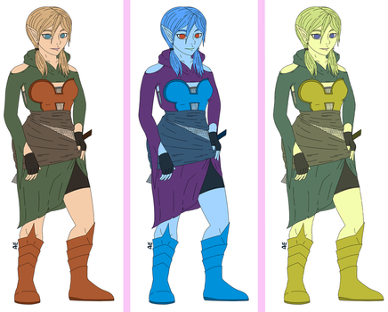 Rogue Elf Colour Variations by bsdthings