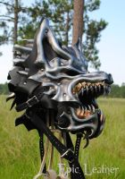 Leather Steel Dire Wolf Full Helm by Epic-Leather