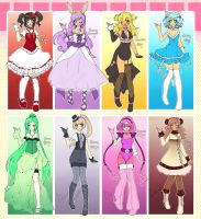 Various Adoptables Batch (Points/Cash)(ONE LEFT!) by Desiree-U