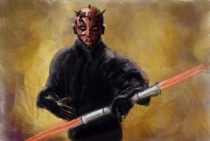Practice 0045 GIMP Darth Maul by ludwig-a