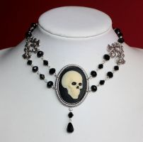 Victorian Gothic Skull Choker by Pinkabsinthe