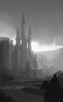 Castle - values sketch by RobertoGatto