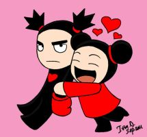 Pucca and Garu by IzIzIza