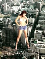 Giantess Penny in Flatiron by theborrowergts