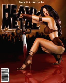 Heavy Metal Magazine Cover by Attempted