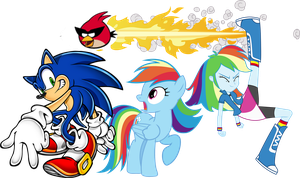 Super Awesome Team by MarioandSonicFan19
