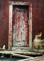 door of a shed by LucieG-Stock