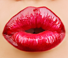 Red Shiny Lips Stock by Viktoria-Lyn