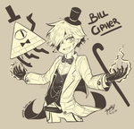 Bill Cipher (Human Version) by SandraGH