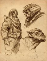 Sketches page 1 by PReilly