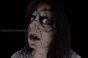 The Exorcist Makeup Halloween 2012 by smashinbeauty