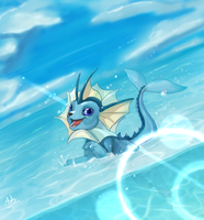 Vaporeon by DragonAsis