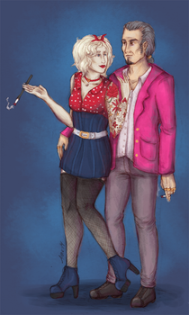 what a cheap couple, they say by Chandri