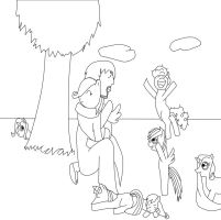 Jesus loves the little ponies by Saraphimwolf