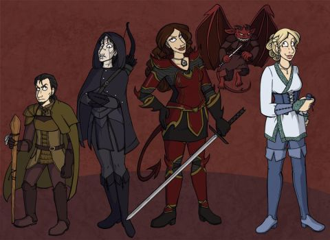 Commission- Roywyn and Friends by kojiro