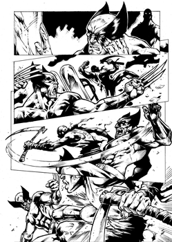 Wolverine Page 4 Inks by Blackmoonrose13