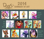 A Year of Art: 2014 by RustyDooks