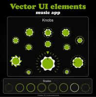Vector UI elements - knobs and scales by briztaker