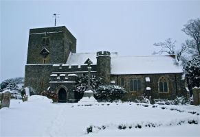 Borden Church in the snow 2 by gee231205