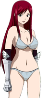 Erza sexy :3 semi naked by vdb1000