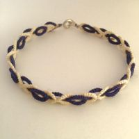 Tatted Woven Bracelet - For Sale by Erzsabet