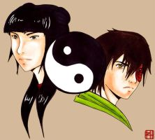Yin and Yang - Maiko by tenleftthumbs
