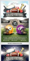 College Football Flyer Template by saltshaker911