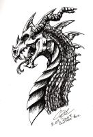 Dragon head design by Chaotic-Kinny
