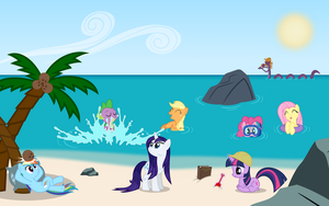 MLP:FIM Summer Scene Poster by PhilipTomkins