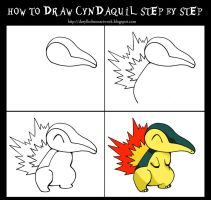 How To Draw Cyndaquil step by step by DarylHobsonArtwork