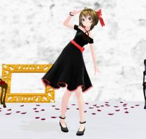 MMD Newcomer - Tda One Piece Meiko -Black- by SapphireRose-chan