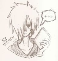 Sketch Zexion VI by FeedTheBirds