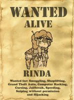 Rinda Wanted Poster by LarsLasse