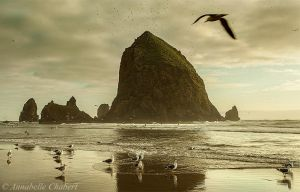 Haystack Rock by Annabelle-Chabert