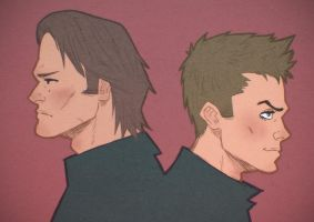 Sam and Dean Winchester by DocSinistar