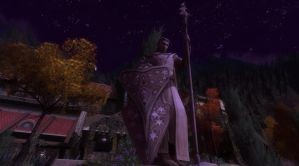 Statue of Gil-galad in the valley of Imladris by LotROLaurelin