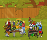 Commission - Neighborhood BBQ for Winterpur by The-Greys