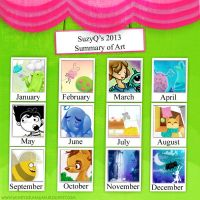 2013, Summary of art / art review by SuzyQ2pie
