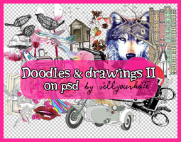 PSD's: Doodles and drawings II by sellyourhate