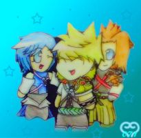 Birth by Sleep Trio Chibis by lollypop071