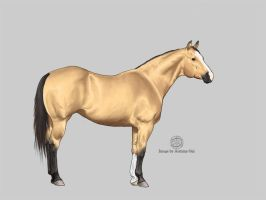 Quarter Horse Mare - final by AutumnOni