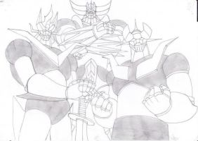 Goldorak Mazinger et Great Mazinger Z by Zaraki360