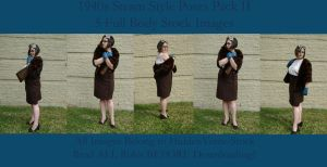 1940s SteamStyle Poses II by HiddenYume-stock