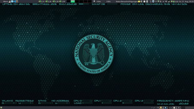 NSA Conky Skin (Wallpaper included) by quadrixel