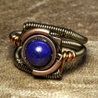 Steampunk Jewelry Lapis by CatherinetteRings