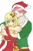 Natsu X Lucy:Merry Christmas by ClaireRoses