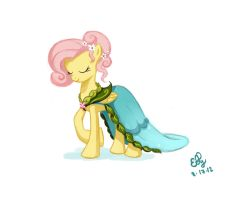 Fluttershy Dress - Journey of the Spark Concept by Ellybethe